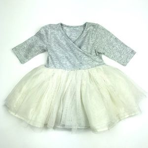 Old Navy Long Sleeve Tulle Dress 6-12 months